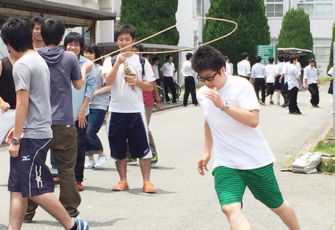 長縄競技の風景②