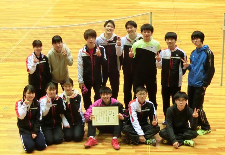第41回中国・四国地区高専バドミントン大会 女子団体・ダブルス・シングルス優勝