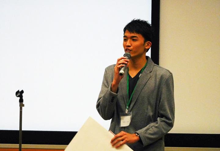 特別賞を受賞しコメントする田村さん