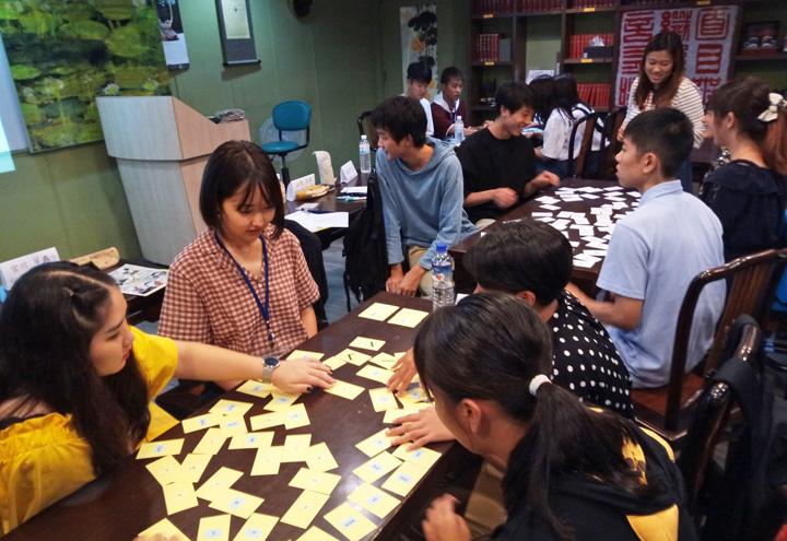 中国語の授業の様子